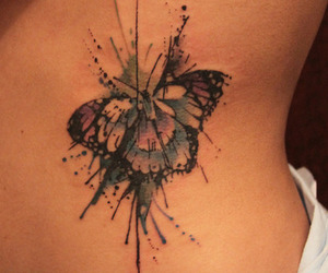 beautiful, butterfly, and ink image