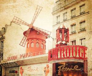 moulin rouge, paris, and vintage image