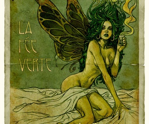 absinthe, green, and art image