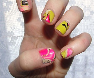 color, nail art, and neons image