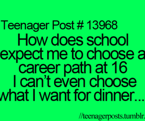teenager post, dinner, and quote image