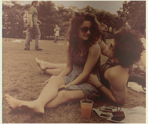 boy, girl, and hippie image