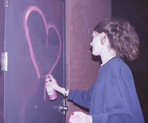 girl, grunge, and heart image