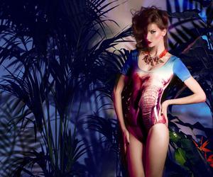 bikini, forest, and photography image
