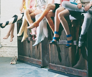 girl, legs, and shoes image