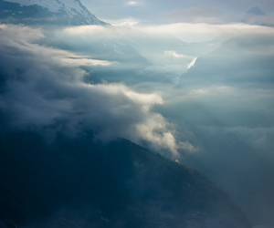 clouds, feeling, and mountain image