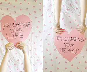 heart, life, and message image