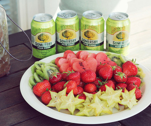 food, fruit, and somersby image
