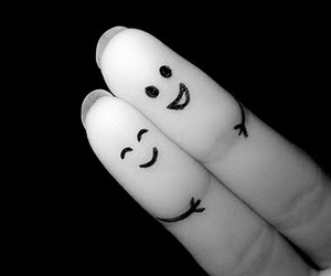 fingers, smile, and friends image