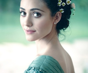emmy rossum, flowers, and hair image