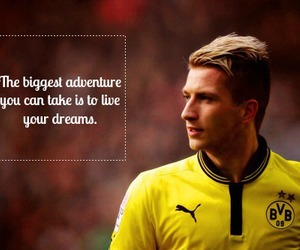 marco reus, football, and quote image
