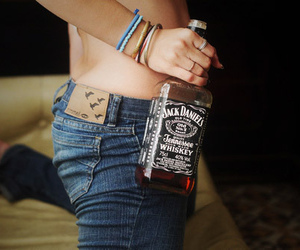 butt, sexy, and whiskey image