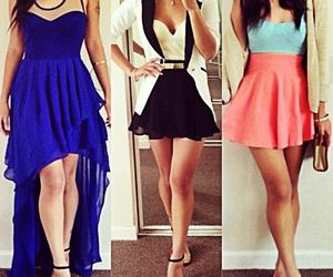 dress, outfit, and skirt image