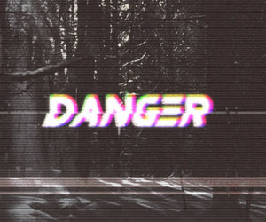 danger and words image