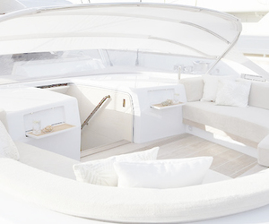 luxury, white, and boat image