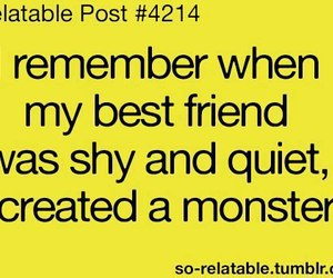 monster, best friends, and friends image