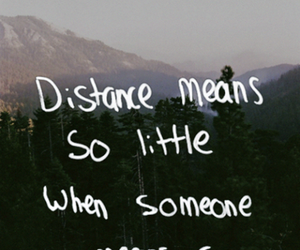 distance, forever, and quotes image