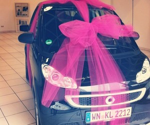 car, pink, and gift image