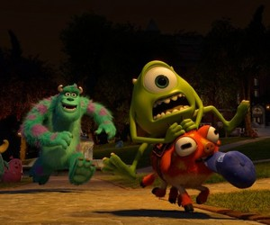monsters university, monsters inc, and disney image