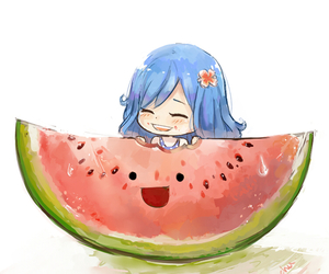 fairy tail, anime, and watermelon image