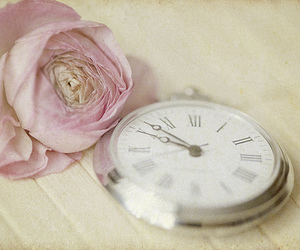 flowers, vintage, and clock image