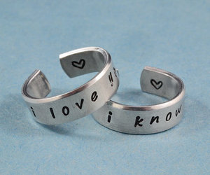 couple rings, band ring, and love rings image