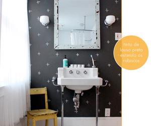 lavabo and parede preta image