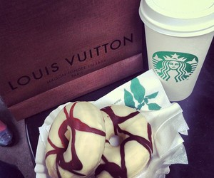 starbucks, donuts, and Louis Vuitton image