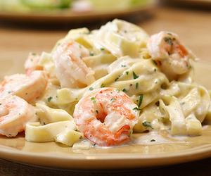 food, pasta, and shrimp image