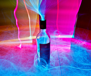 light, bottle, and pink image