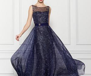 dress, Carolina Herrera, and blue image