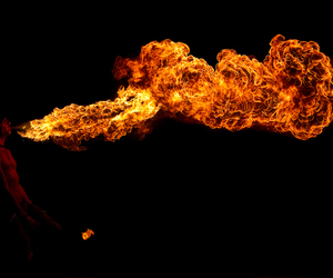 breathe, fire, and photography image