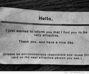 attractive, hello, and quote image