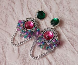 classy, colors, and earrings image