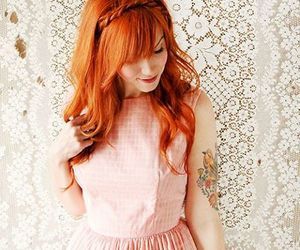 dress, hair, and redhead image