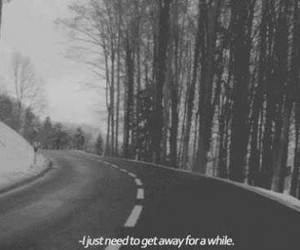 quotes, sad, and road image