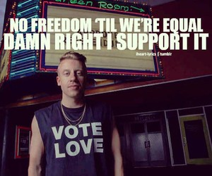 macklemore, freedom, and quote image