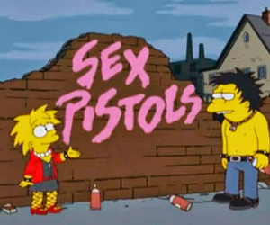 sex pistols, punk, and the simpsons image