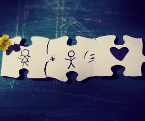 love, puzzle, and boy image