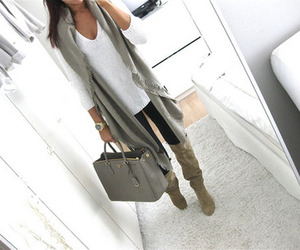 fashion, scarf, and streetstyle image