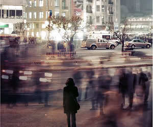 city, alone, and lonely image