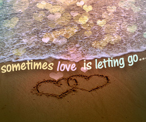 love, quotes, and beach image