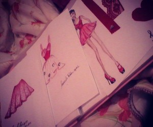 fashion illustration and red image