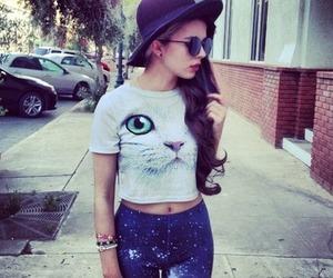 fashion, cat, and galaxy image