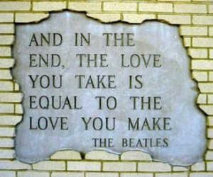 love, quote, and the beatles image