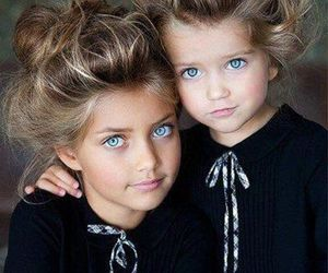 girl, eyes, and sisters image