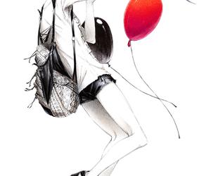 girl, anime, and bird image