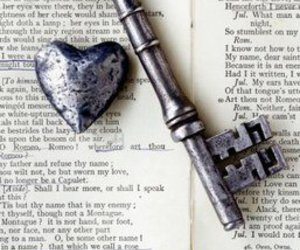 book, heart, and key image