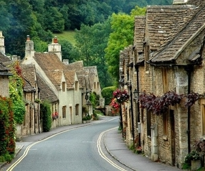 england, village, and house image