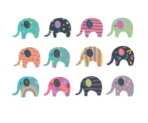 elephant, adorable, and pretty image